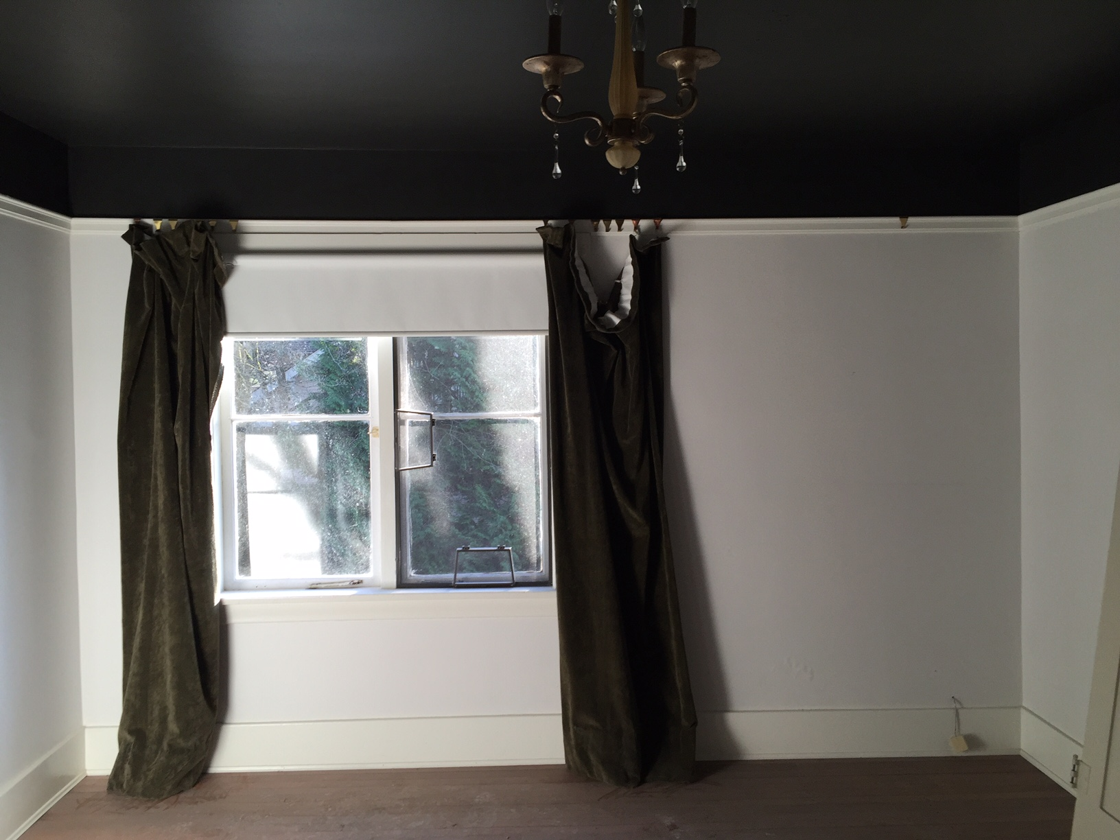 before photo with black ceiling