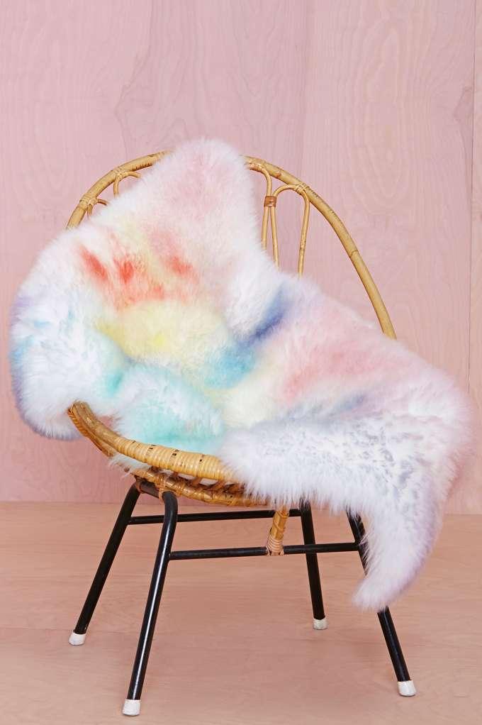 sheepskin watercolor rug