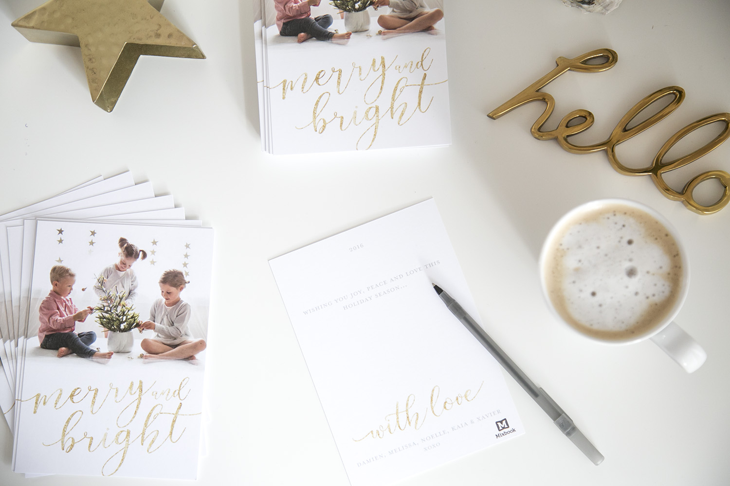 WINTER DAISY blog christmas cards with mixbook