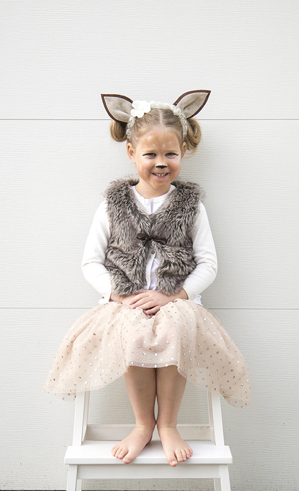 girl fawn costumer halloween
