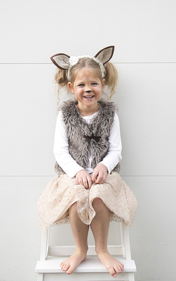 girl fawn costume halloween 2016
