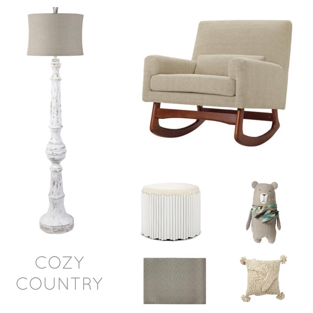 Cozy Country Children's Interior Design board