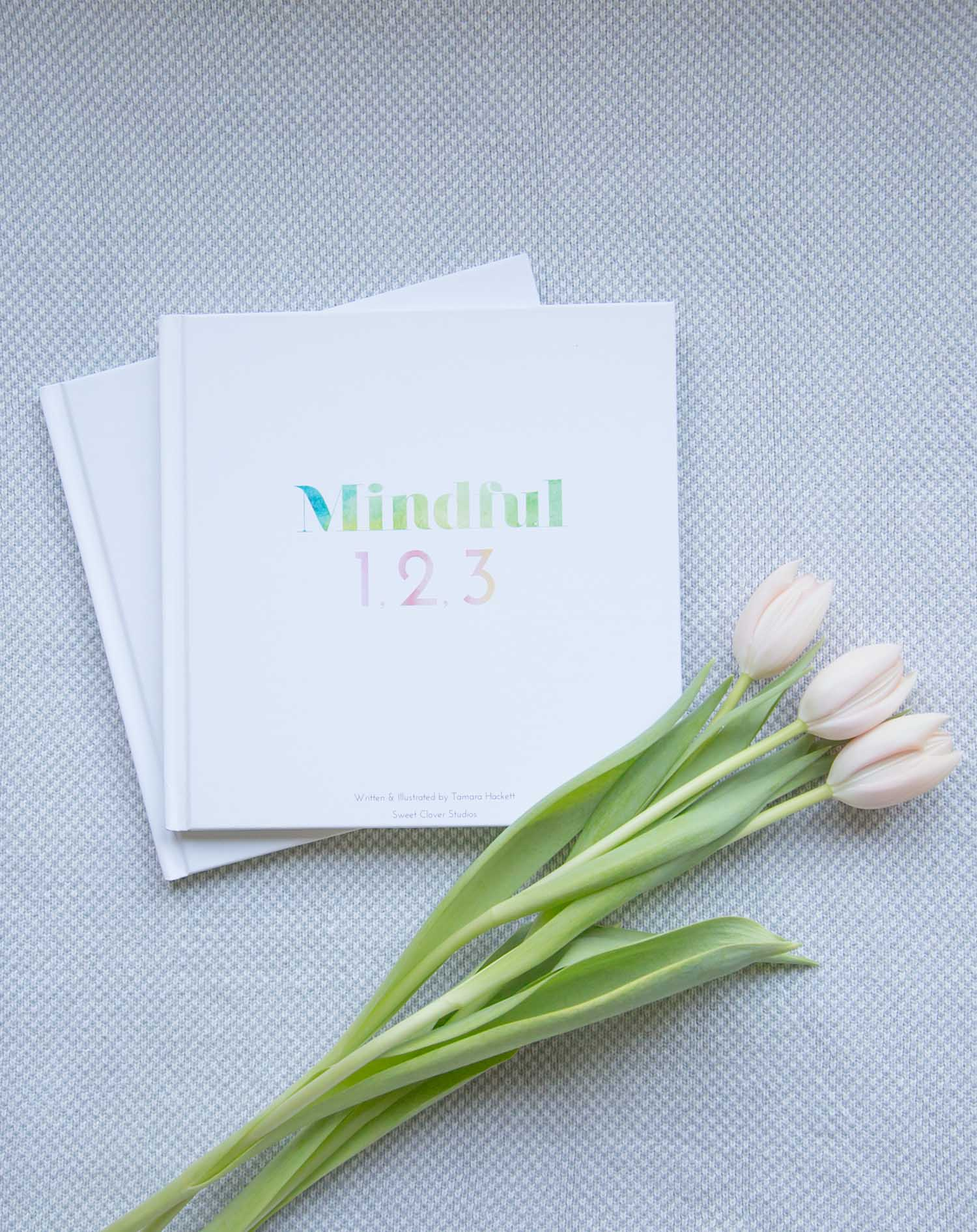 Mindful 1,2,3 book cover with tulips