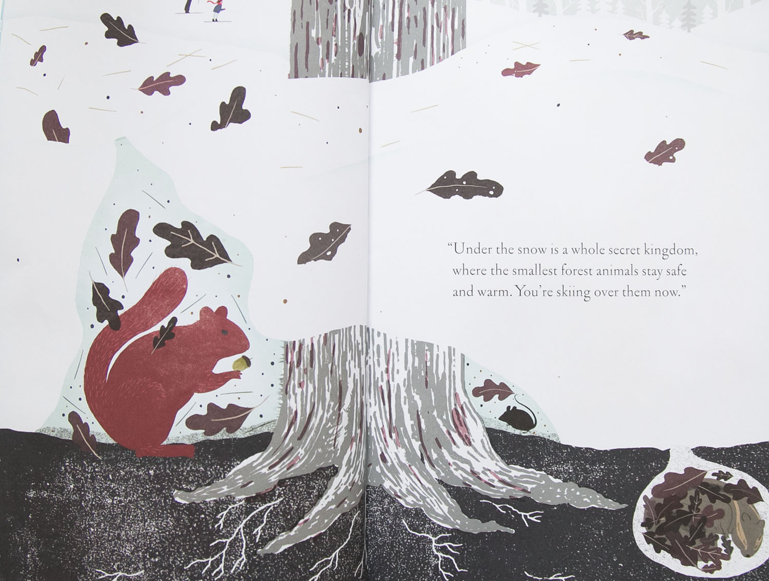 page from children's book 'under the snow'