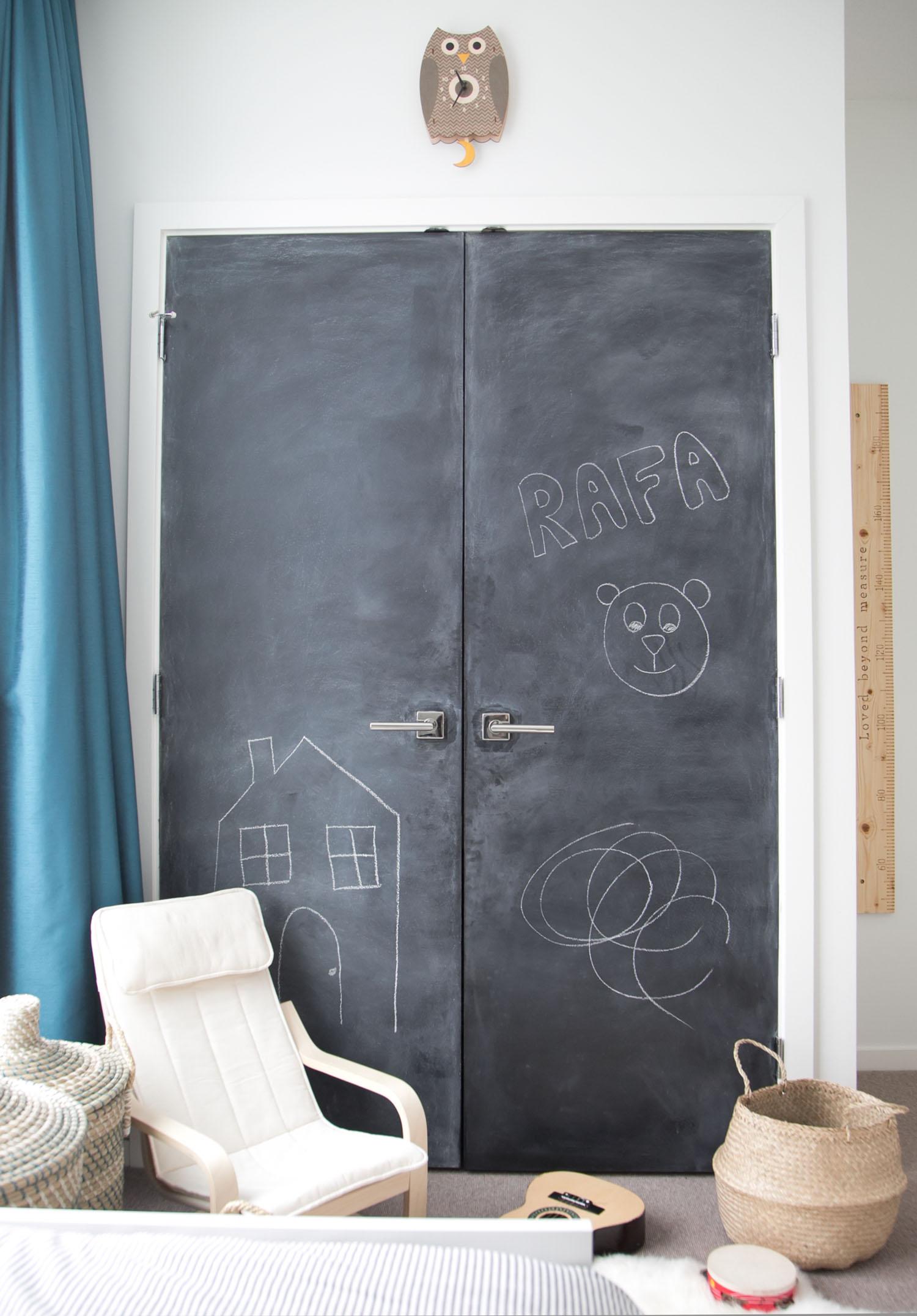 chalkboard closet