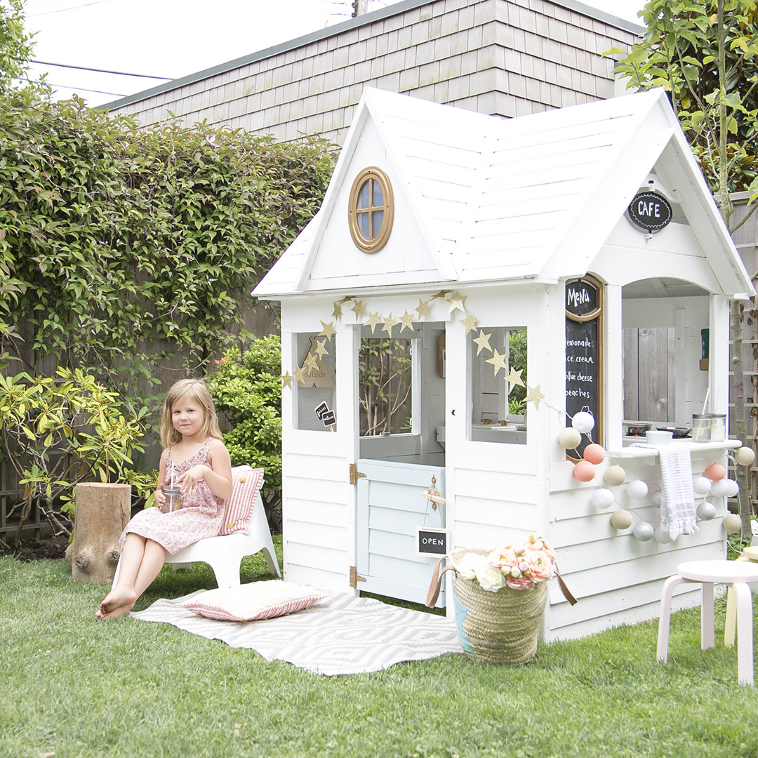children's white summer playhouse