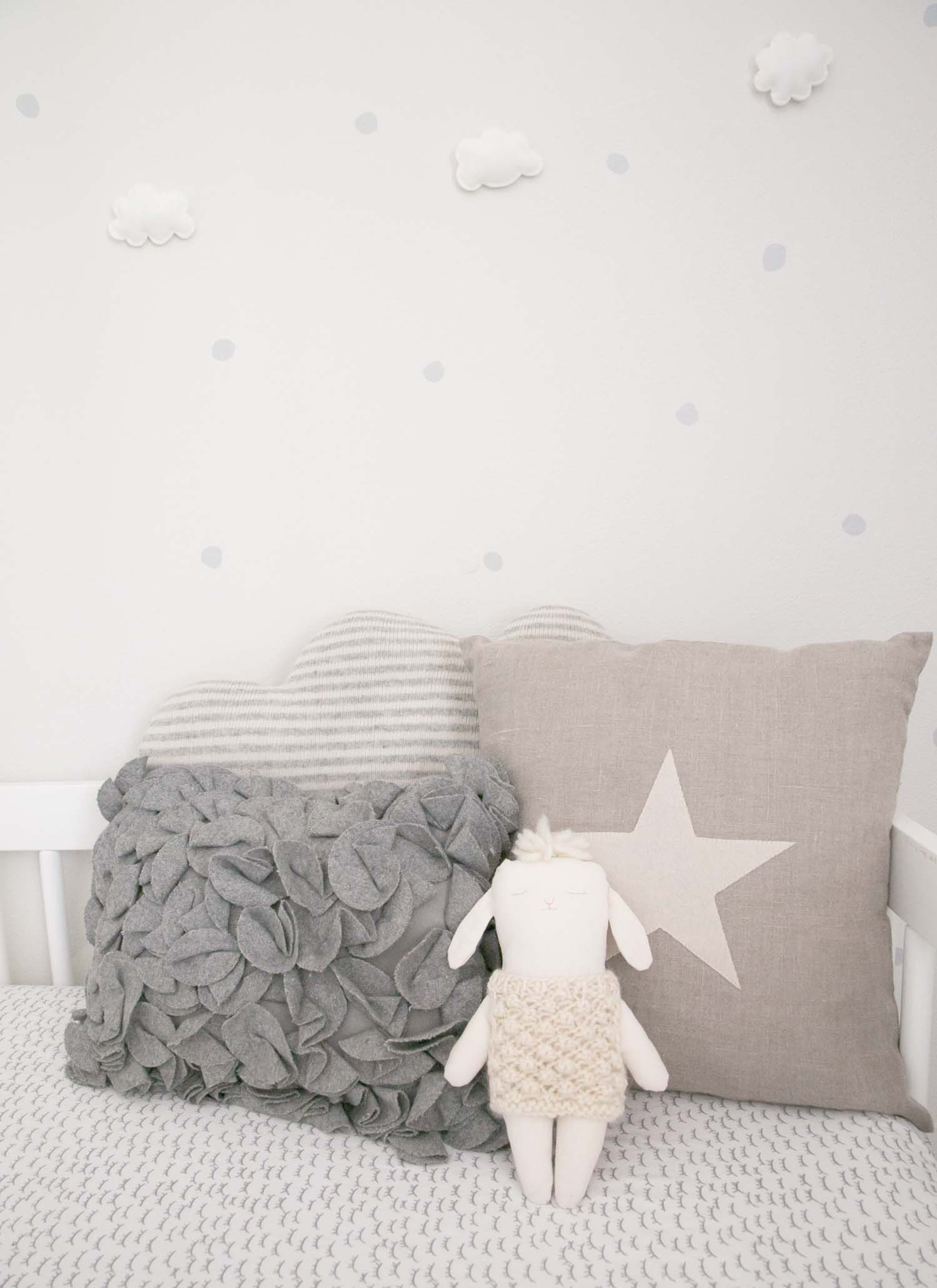 pillows in baby nursery