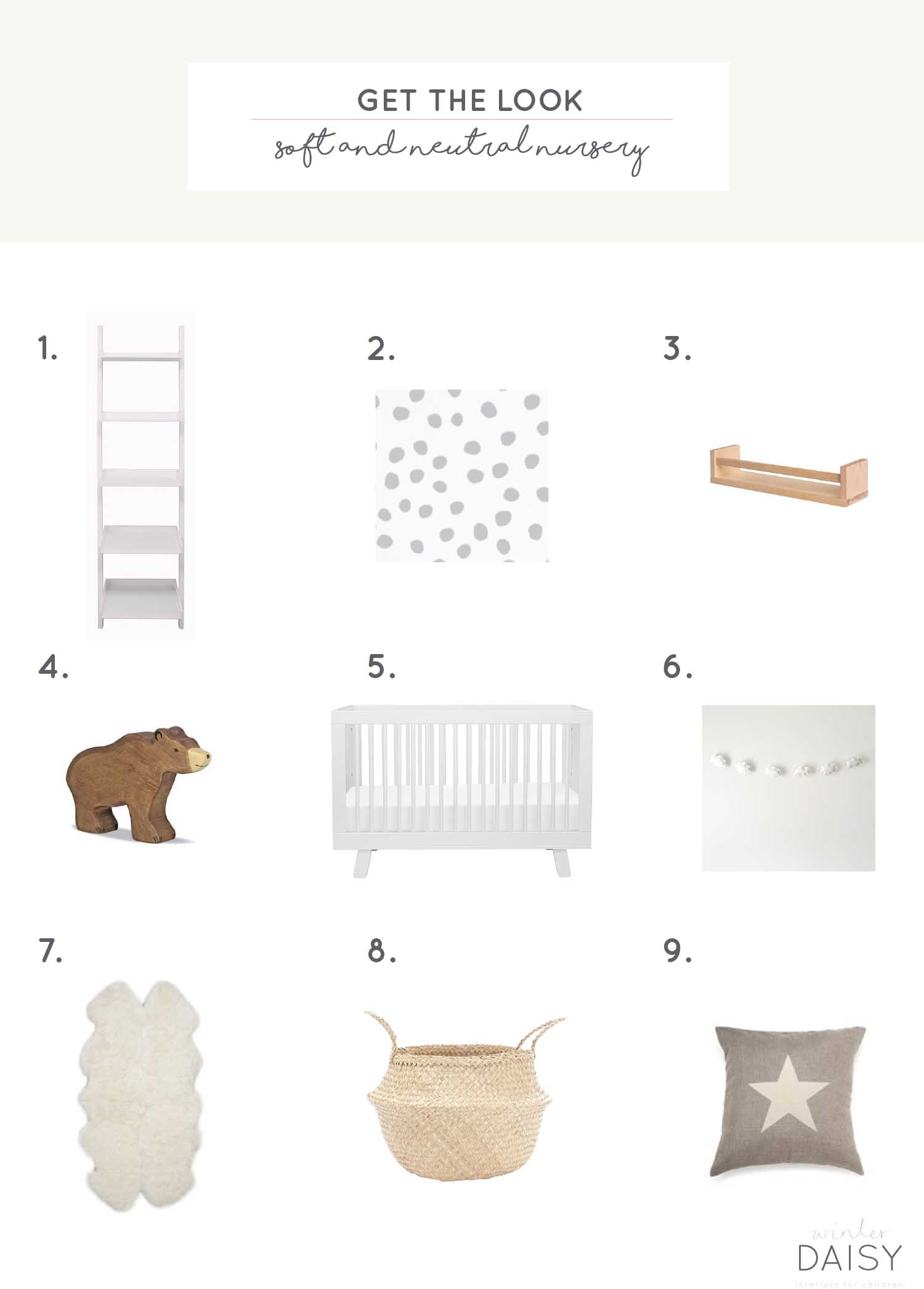 Design board for a neutral nursery