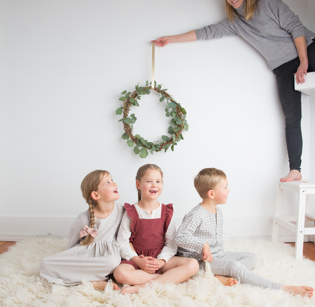 behind the scenes christmas card shoot