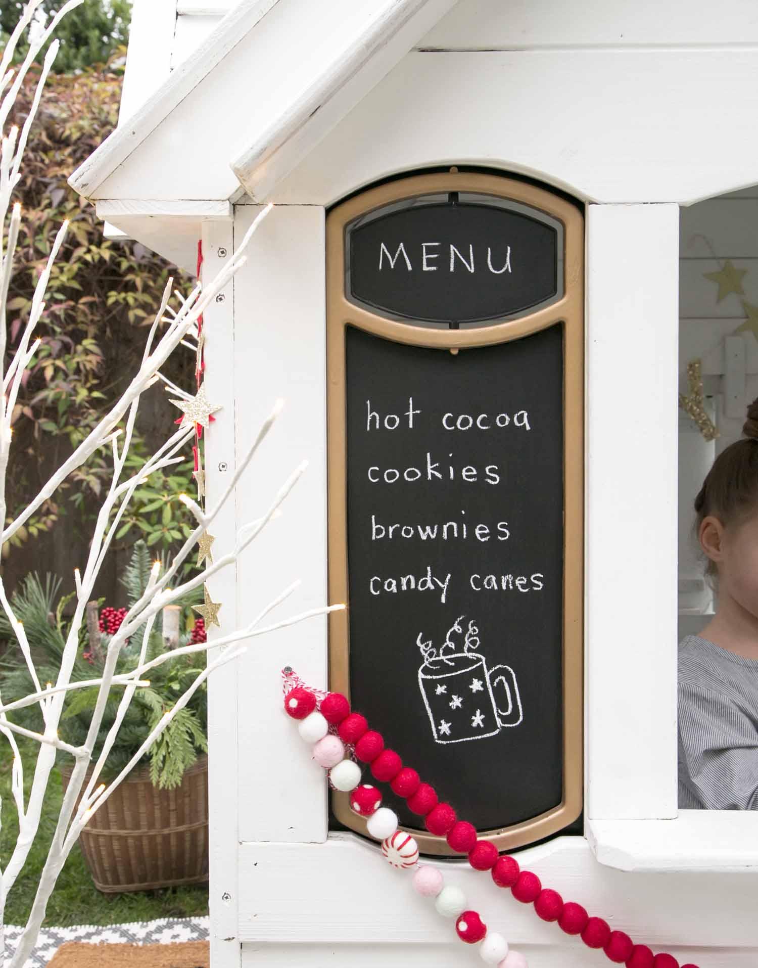 Christmas playhouse menu