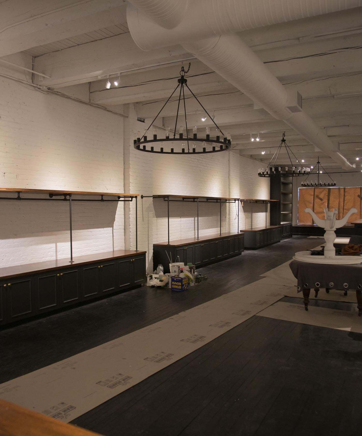 progress shot at Emil Clothing store in Vancouver Canada