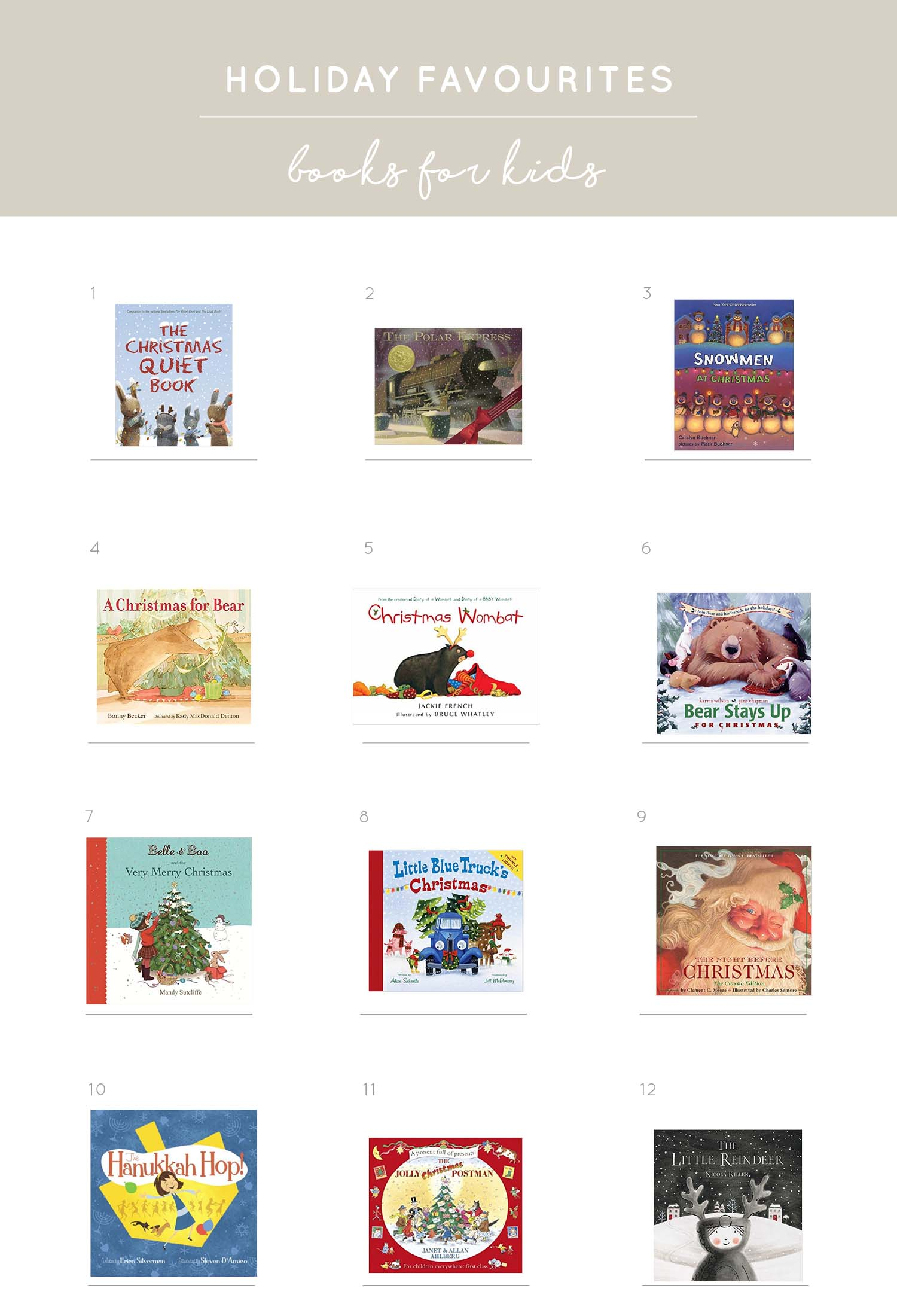 Melissa Barling Vancouver blogger picks holiday books for children