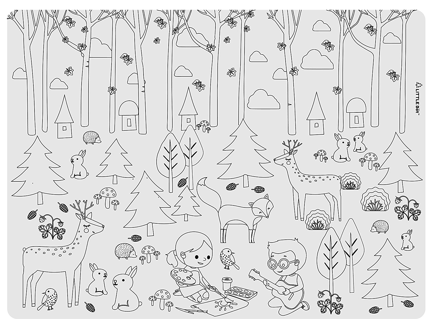 Forest Silicone Placemat
