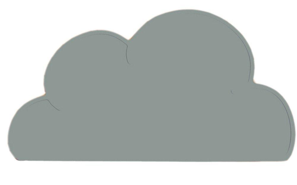 grey cloud placemat