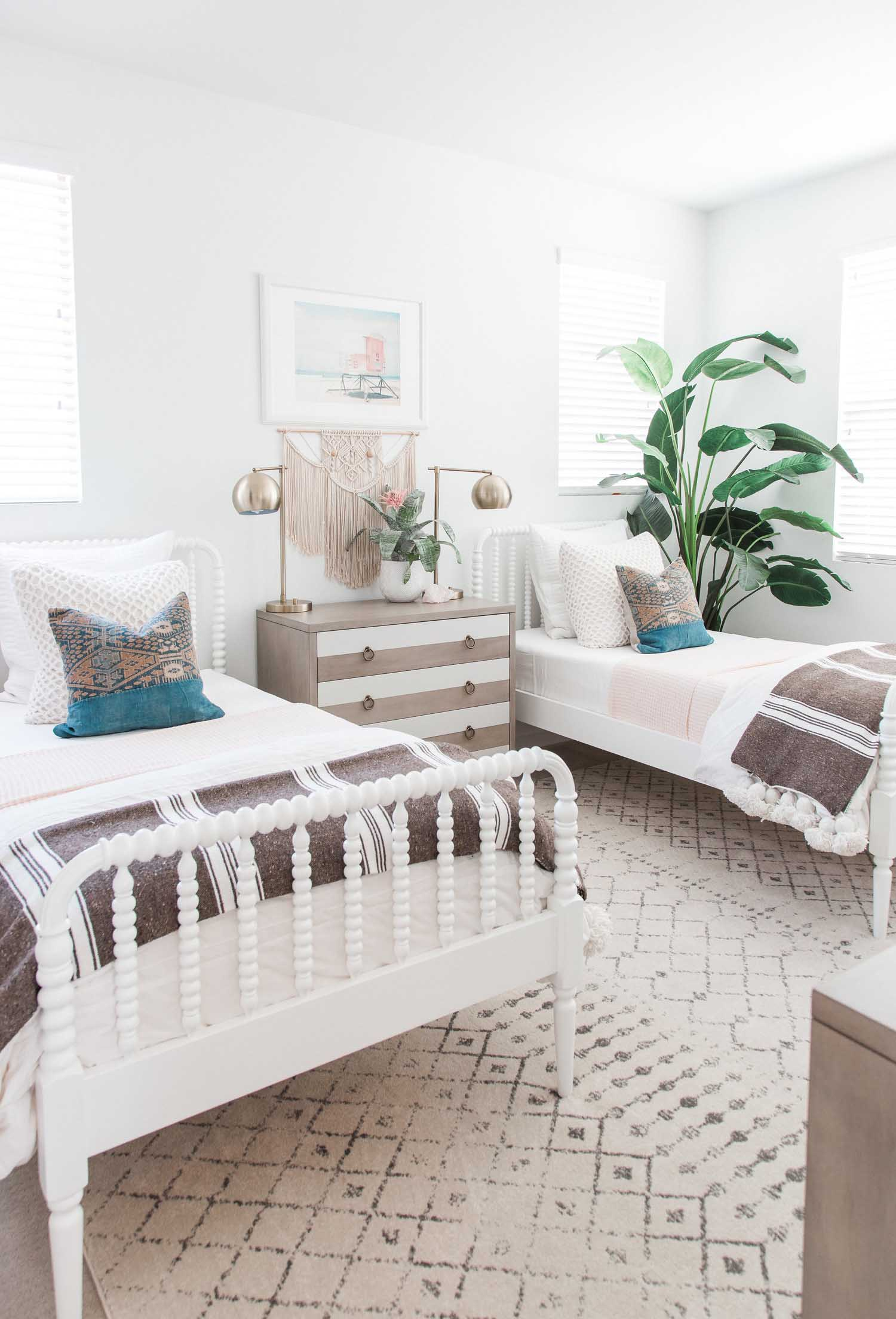 Boho shared girls room