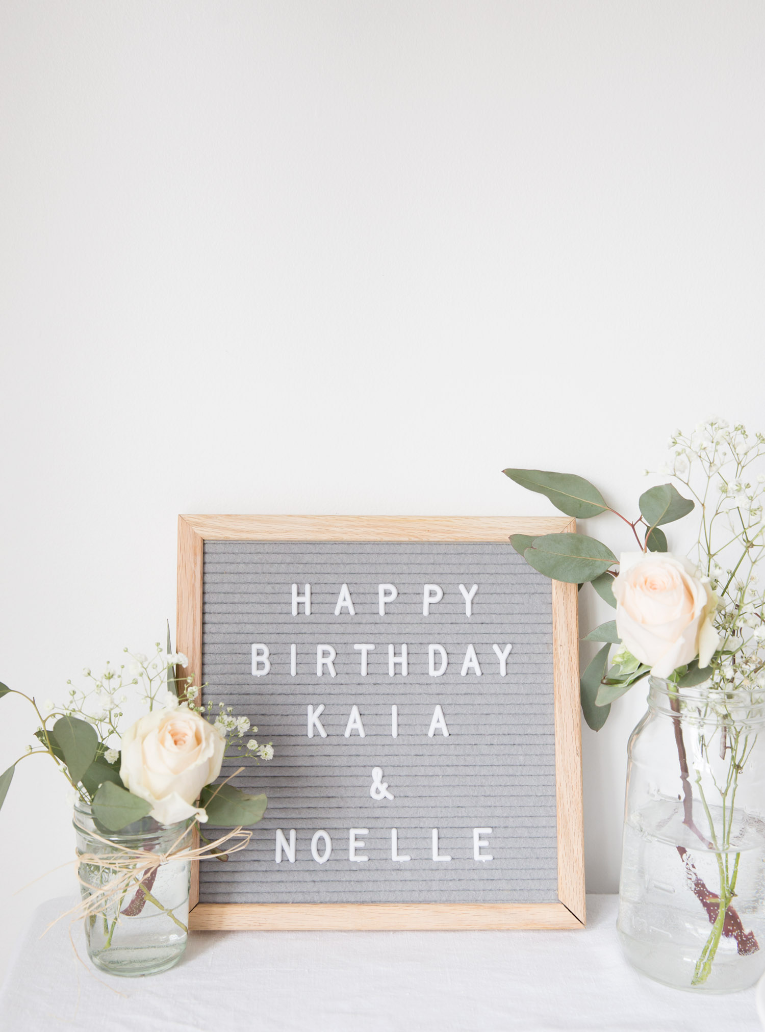 happy birthday grey letter board sign