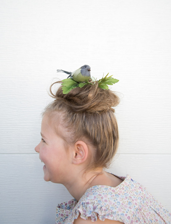 kids crazy hair day bird nest