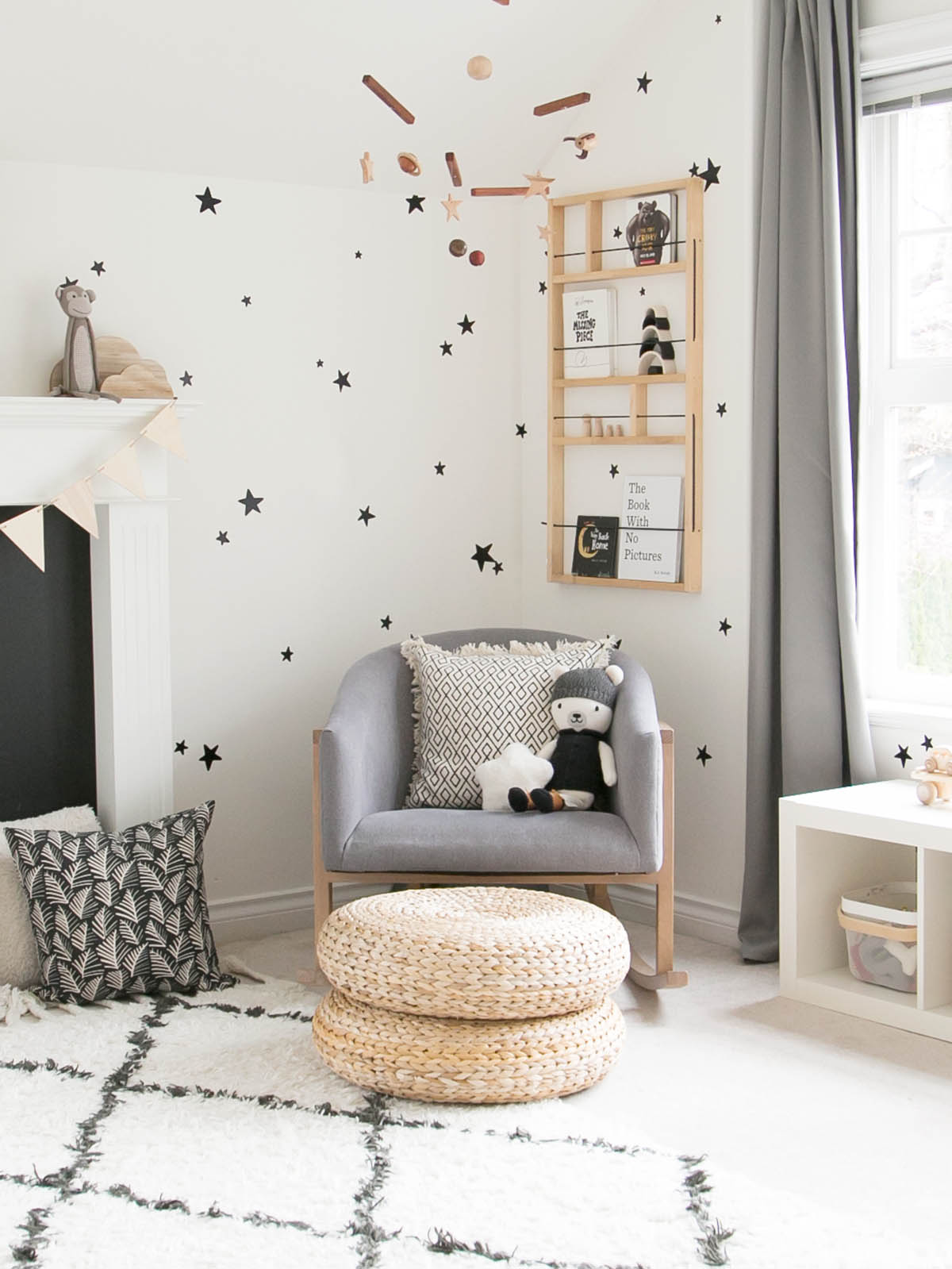 Miles room reading corner designed by Winter Daisy Interiors