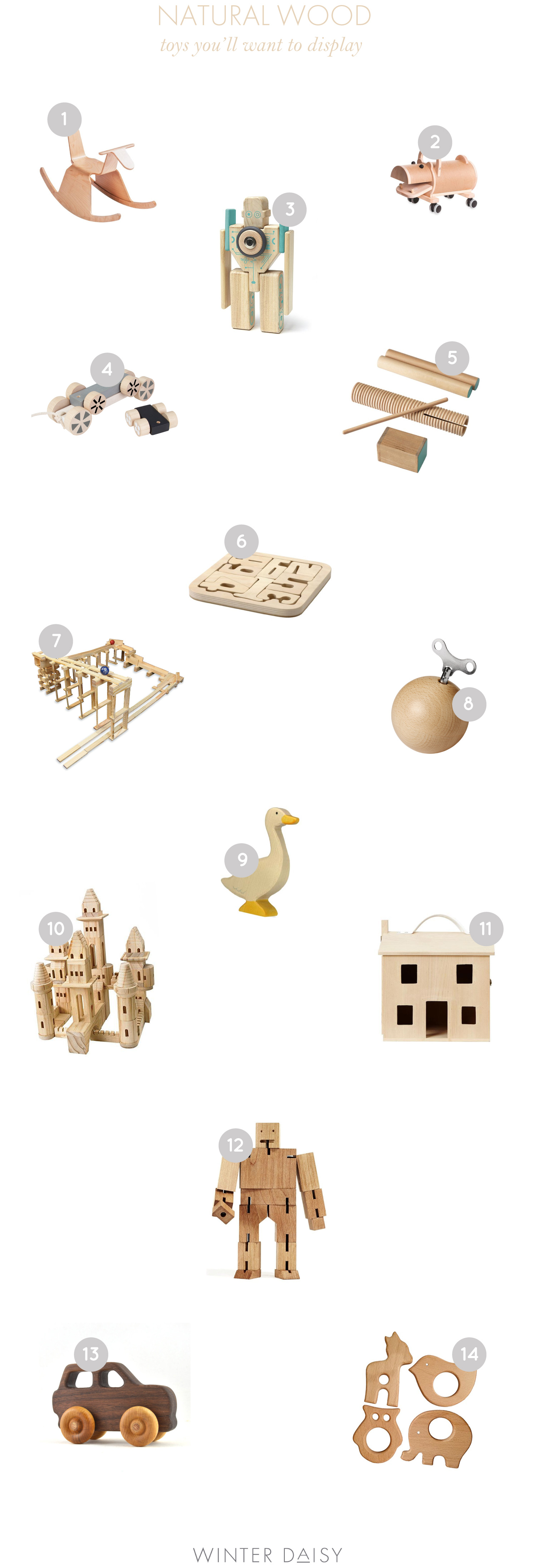 natural wooden toys for babies and kids