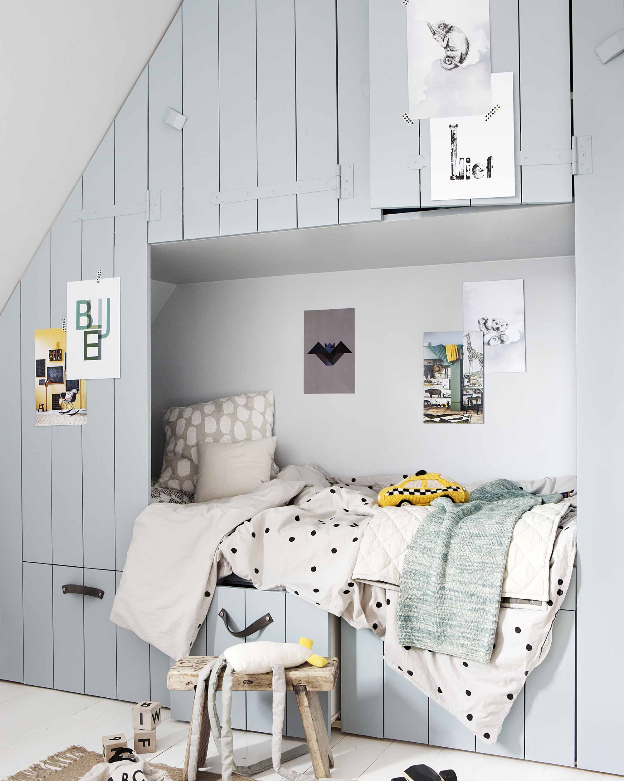 nook bed in kids room
