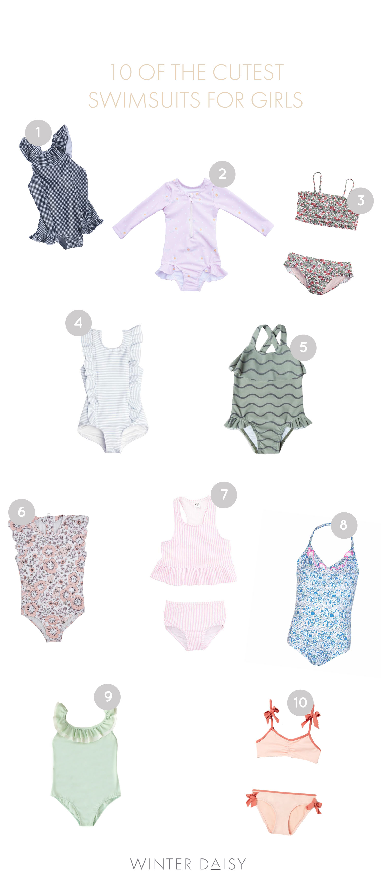 10 of the cutest summer swimsuits for girls