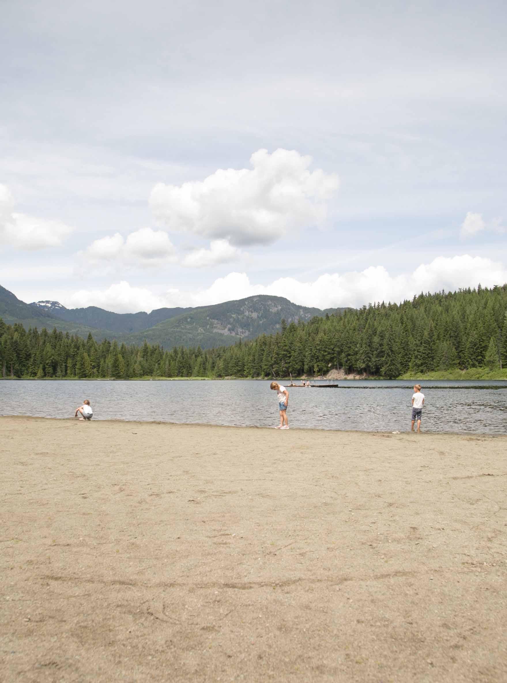 kids playing at lost lake whistler