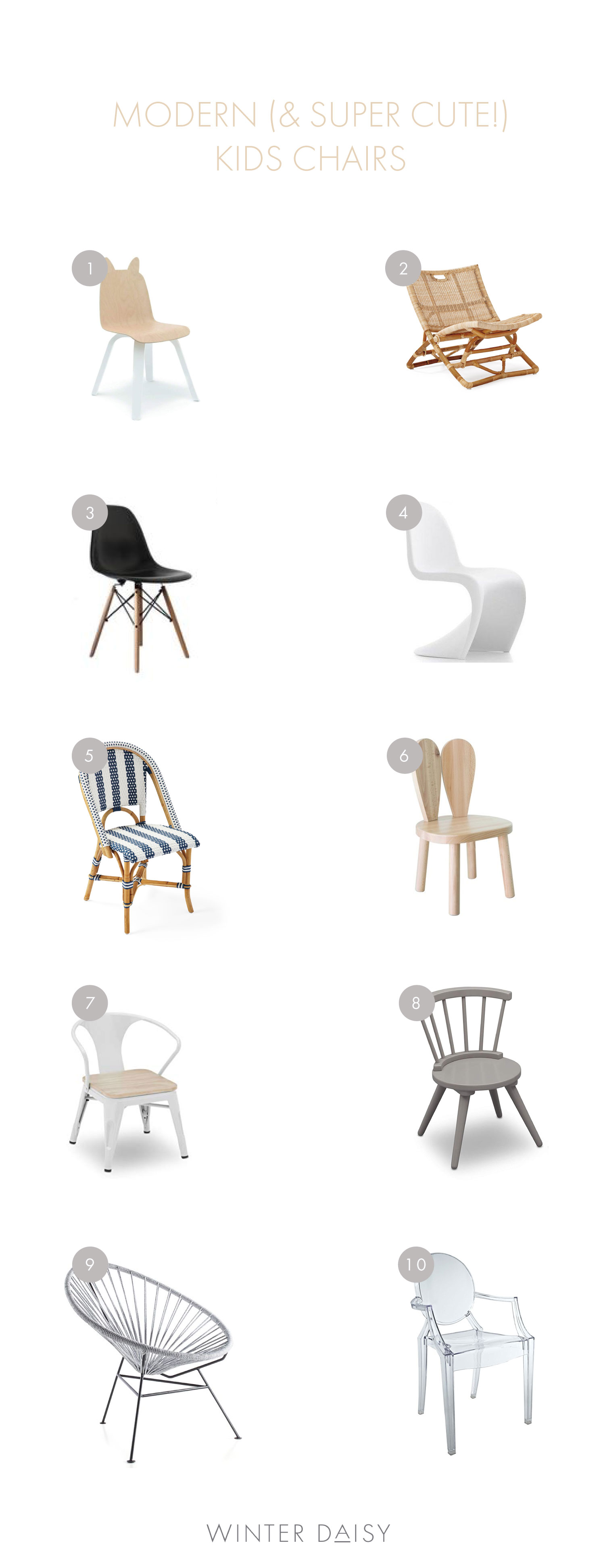 Modern (and super cute!) kids chairs