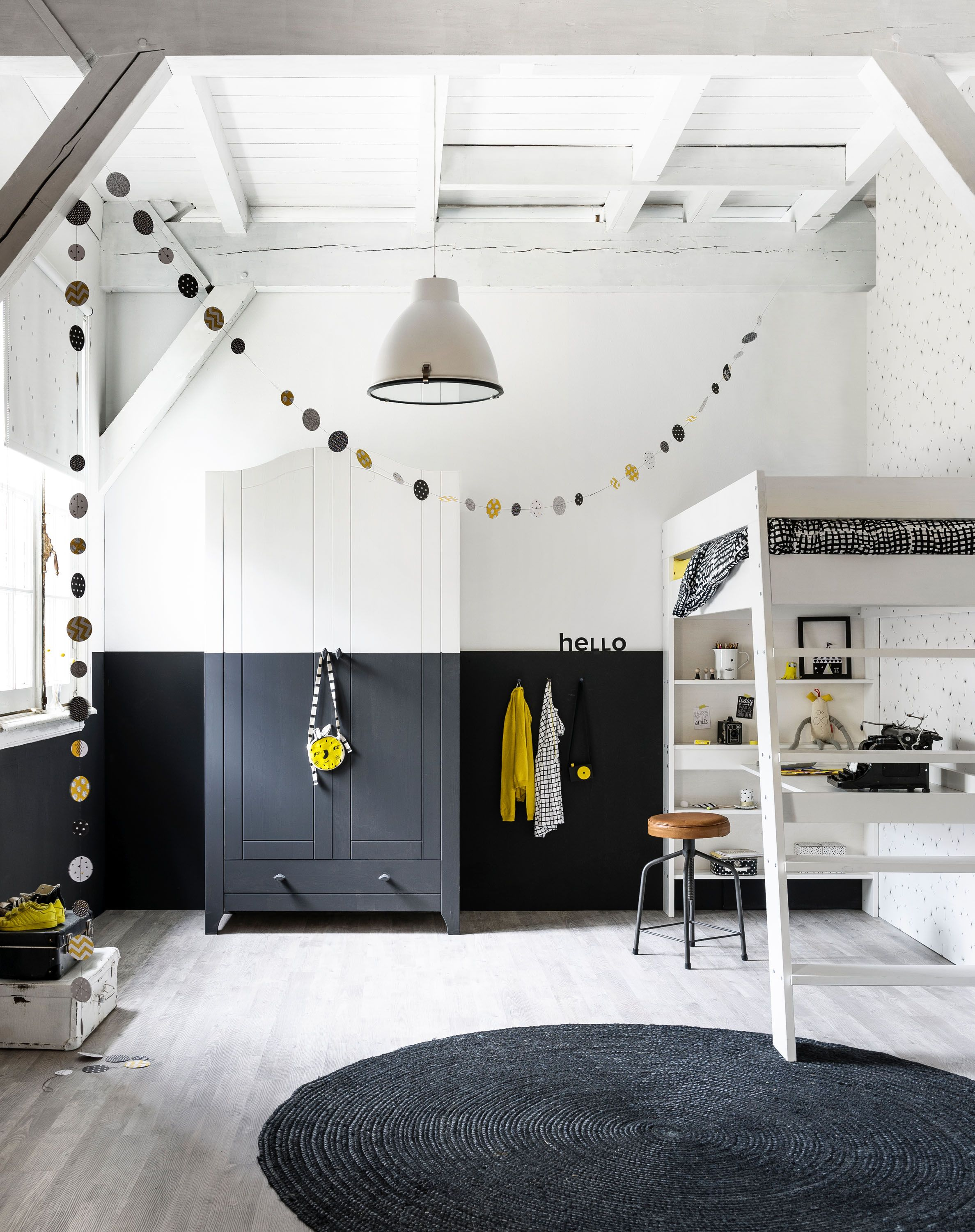 monochrome children's room