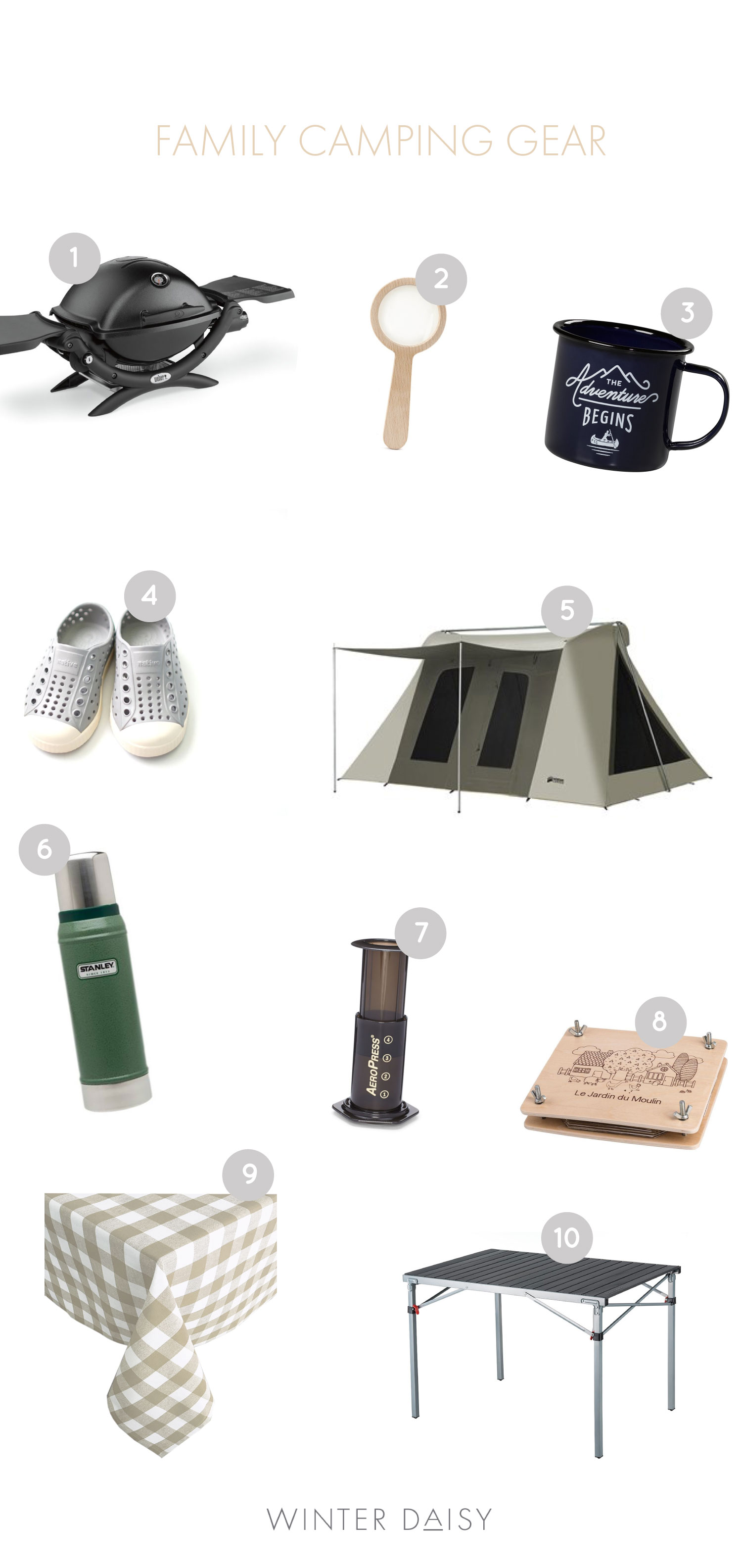 my favourite cute family camping gear