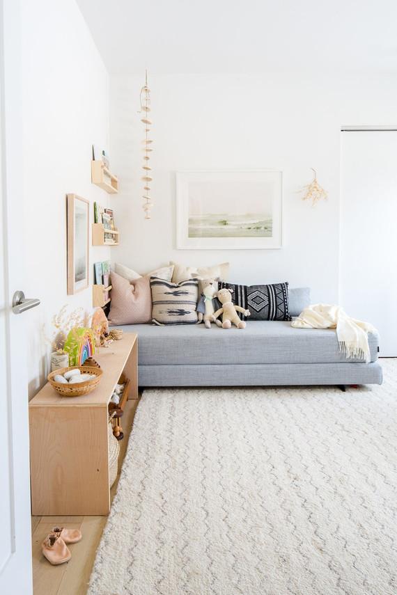soft + cozy nursery corner