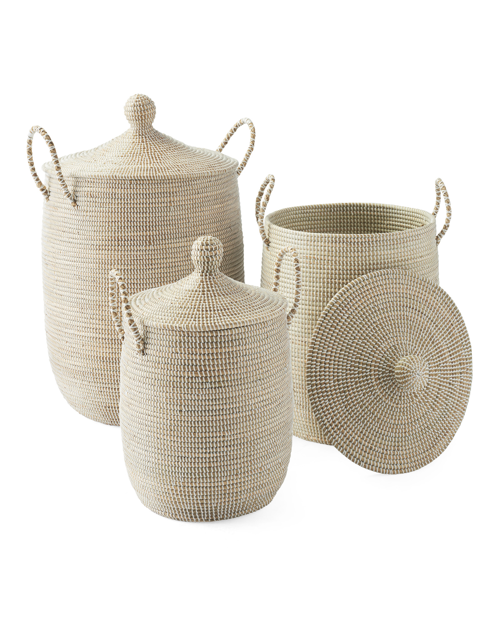 neutral baskets with lid