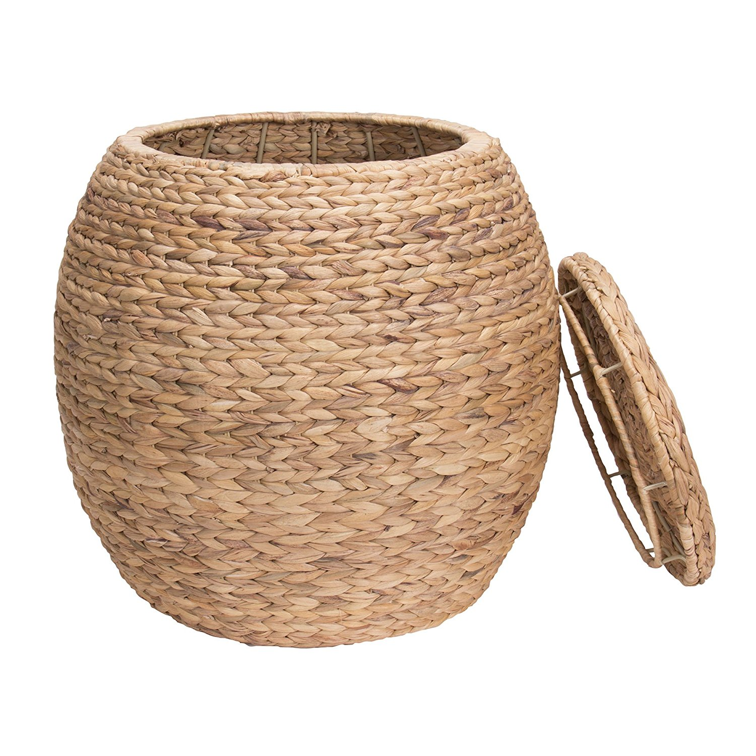wicker basket with lid