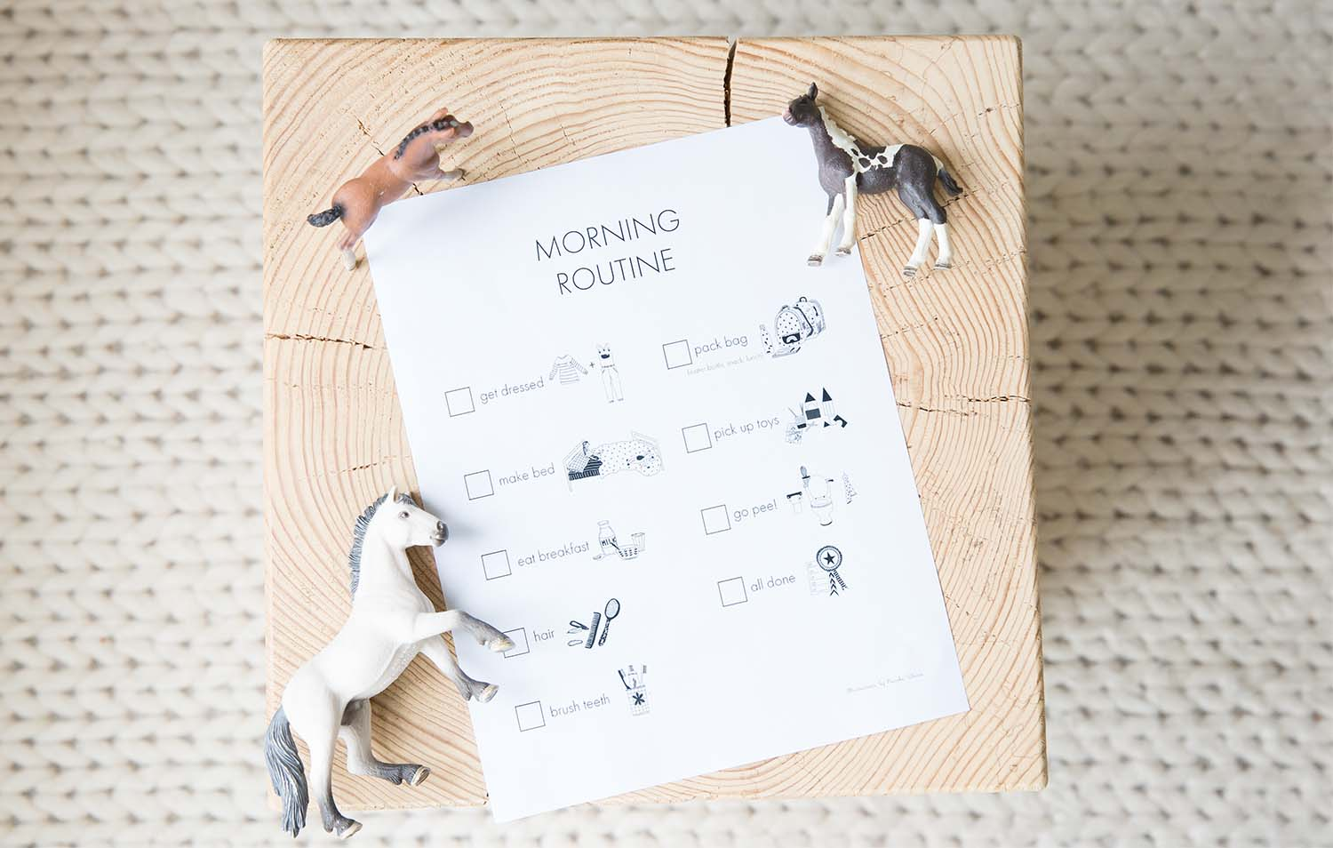 Children's morning routine chart