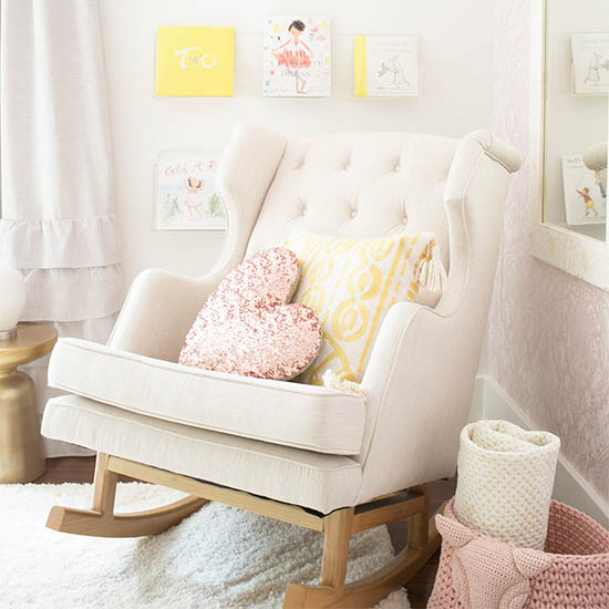 rocking chair in girls room