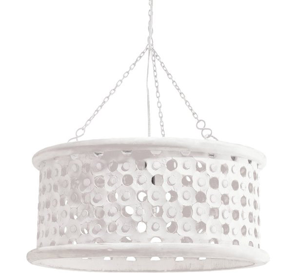 white wooden ceiling light