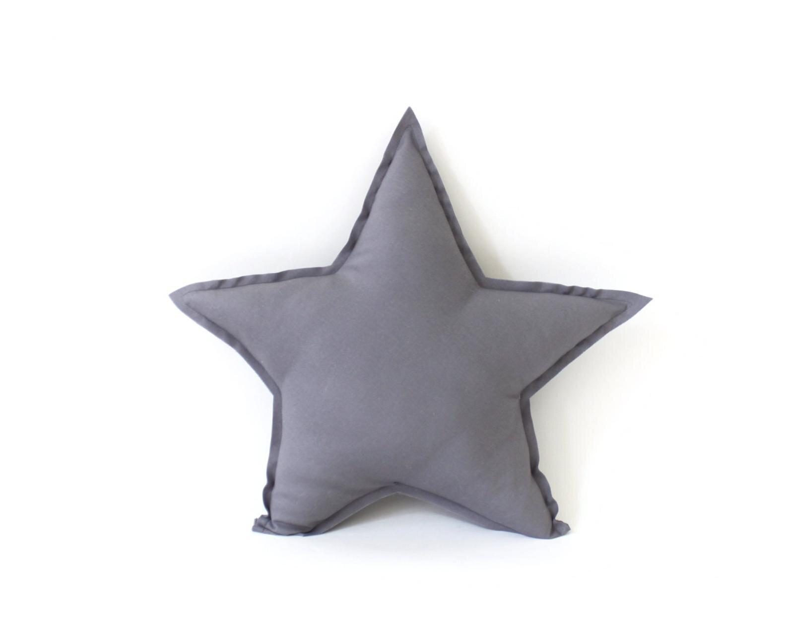 grey star pillow