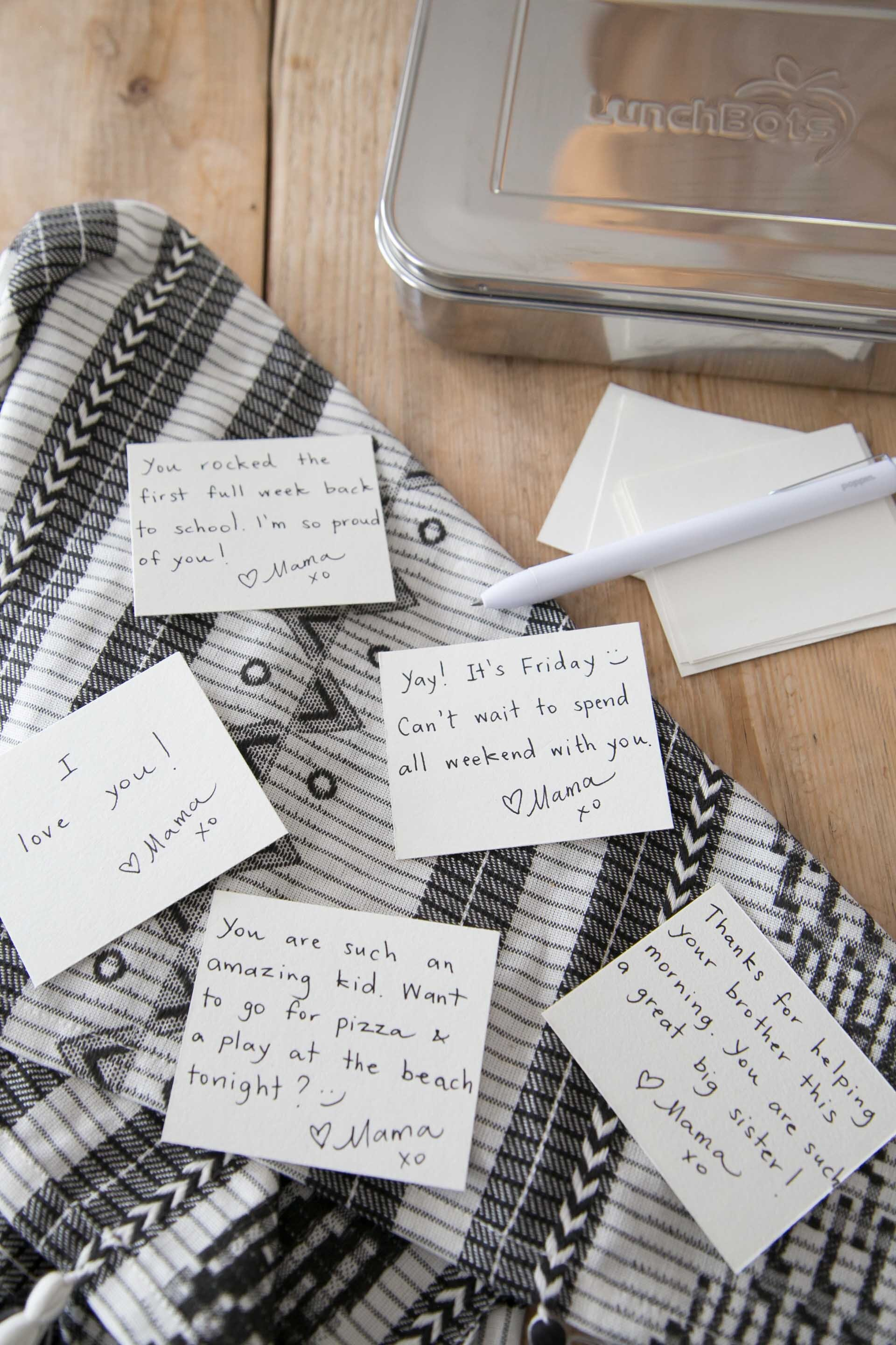 lunch box note ideas for kids
