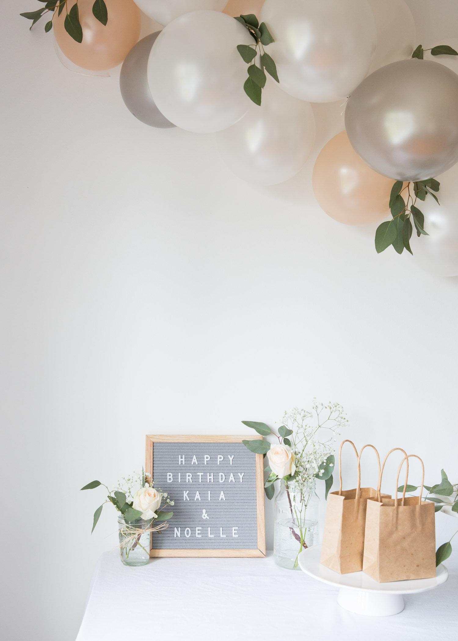 felt letter board on birthday table