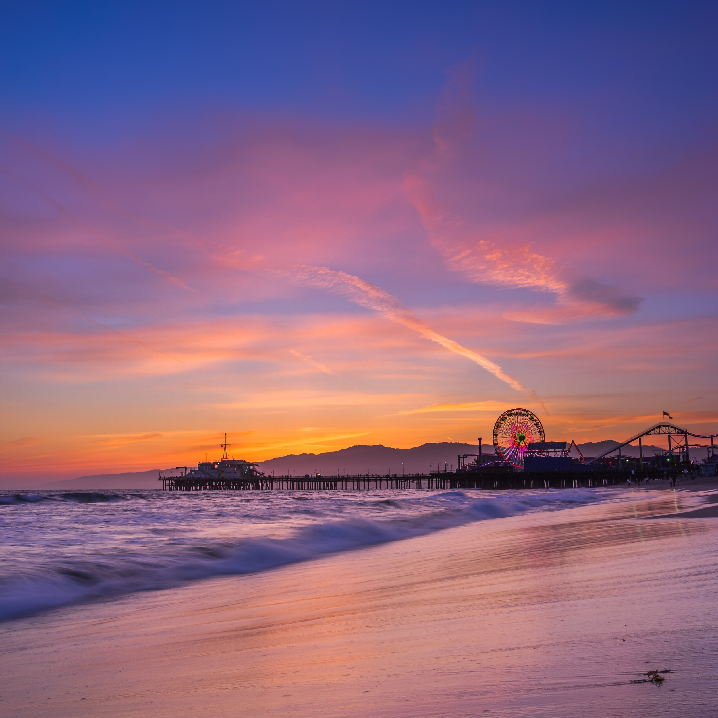Sunset in Santa Monica, CA
