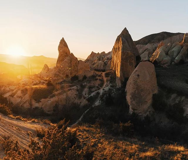Park your car anywhere, walk a little bit further and you are surrounded by history and natural wonders in Cappadocia. #cappadocia