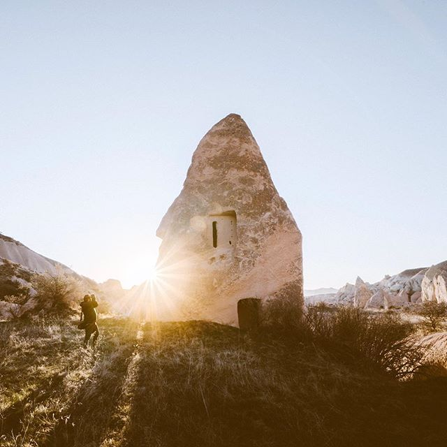 Chasing light in #cappadocia with my brother.