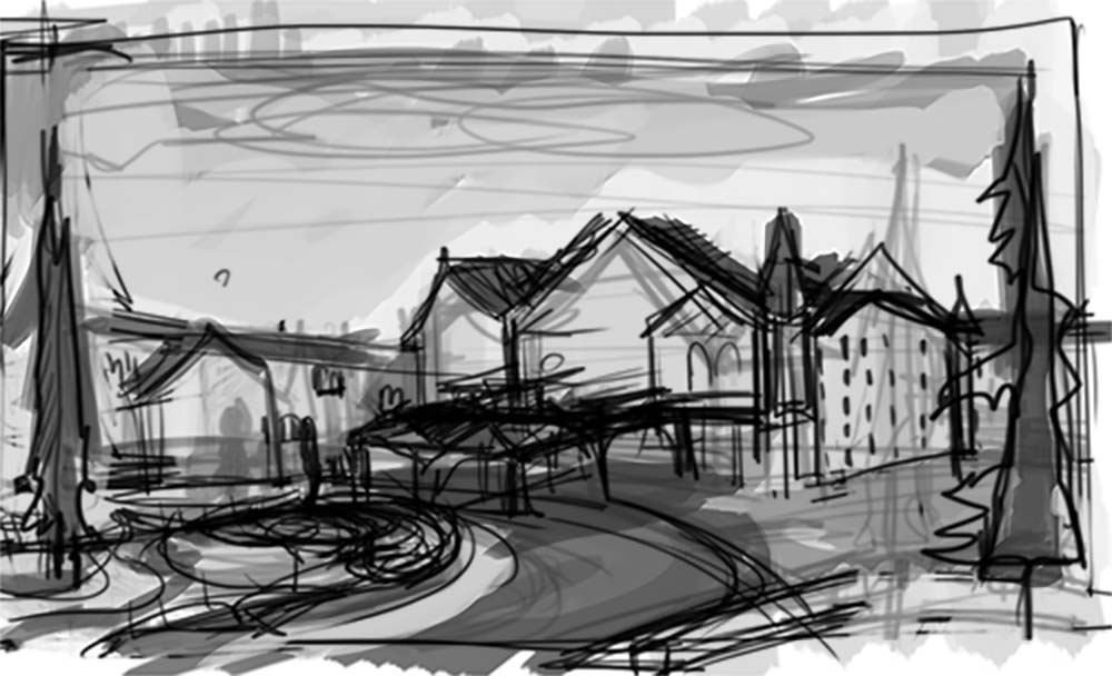 The rough thumbnail of the exterior.