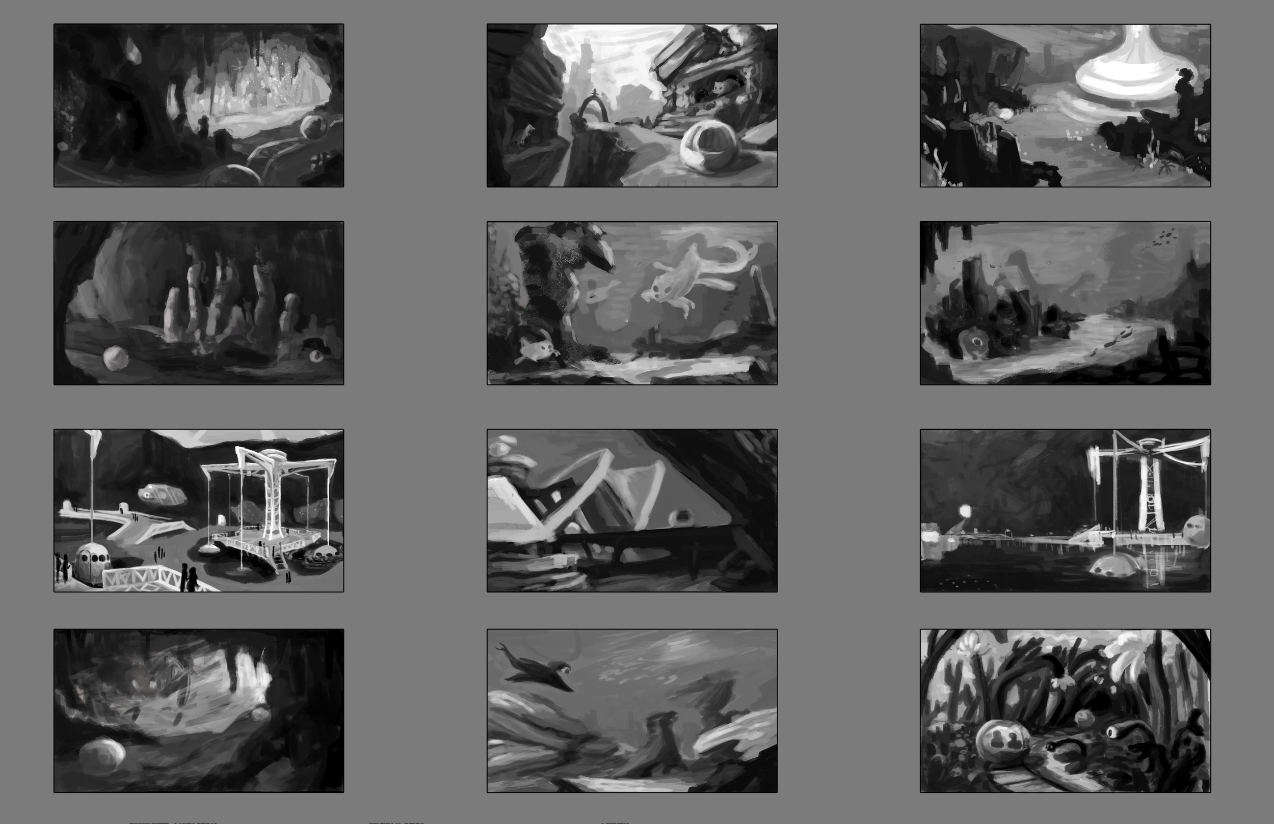 Thumbnails for Exoteric Excursion for my personal project, Astra