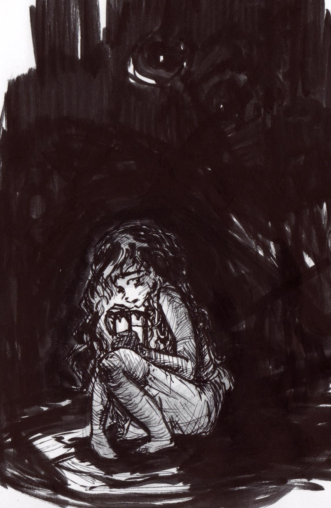 """""""Phobia""""  Used ink, ink brush pen and micron pens."""