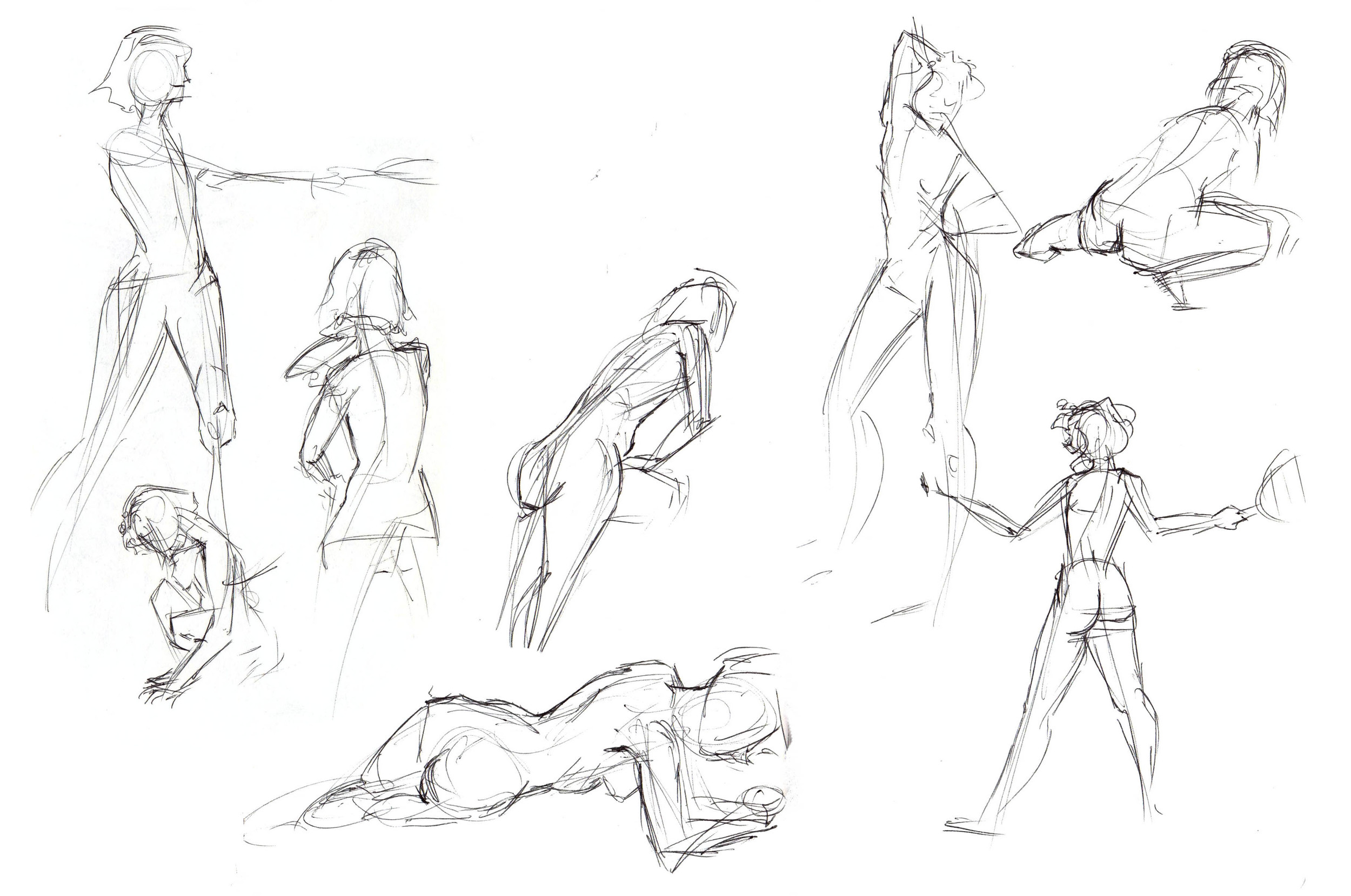 One minute poses