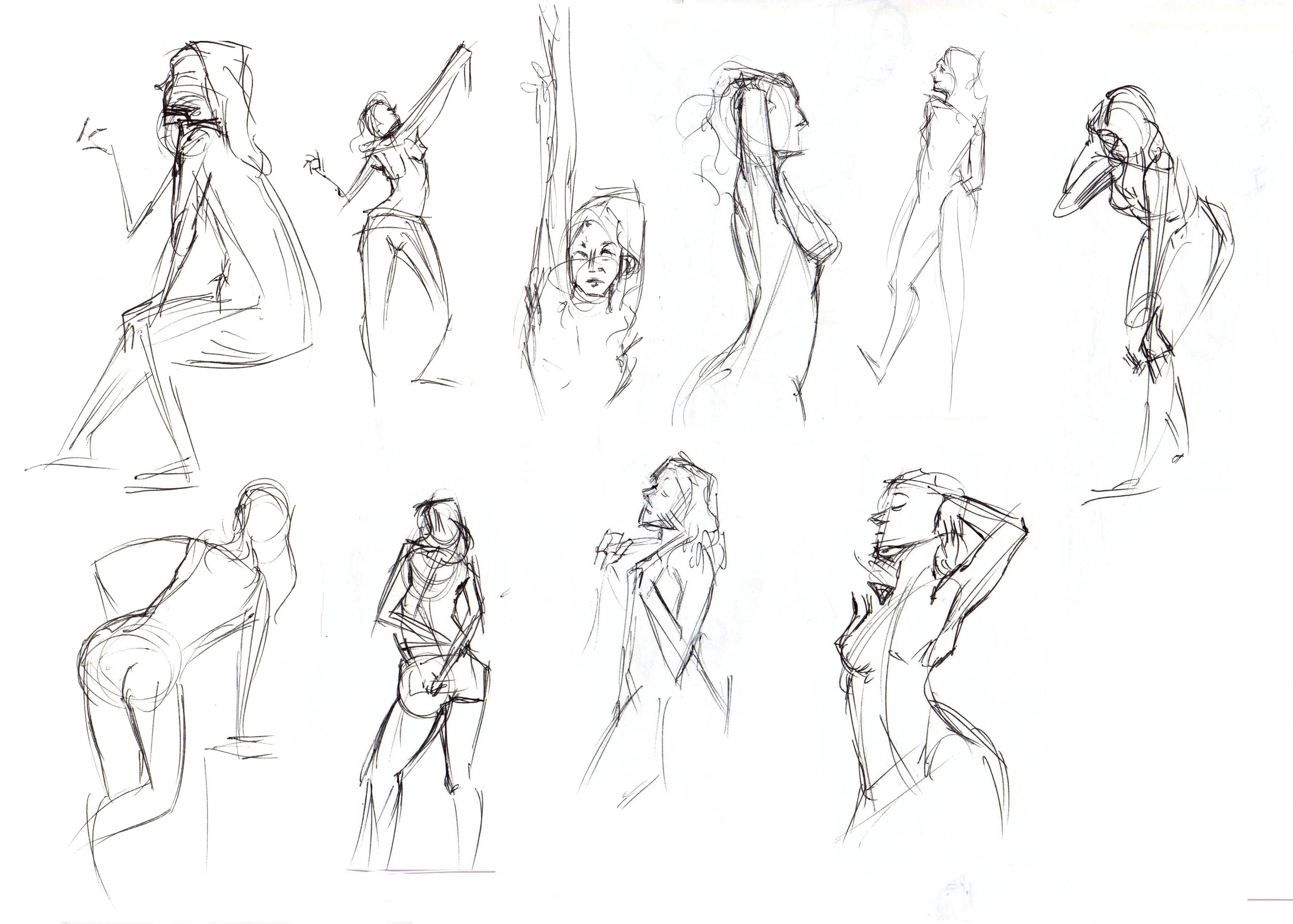 one minutes poses