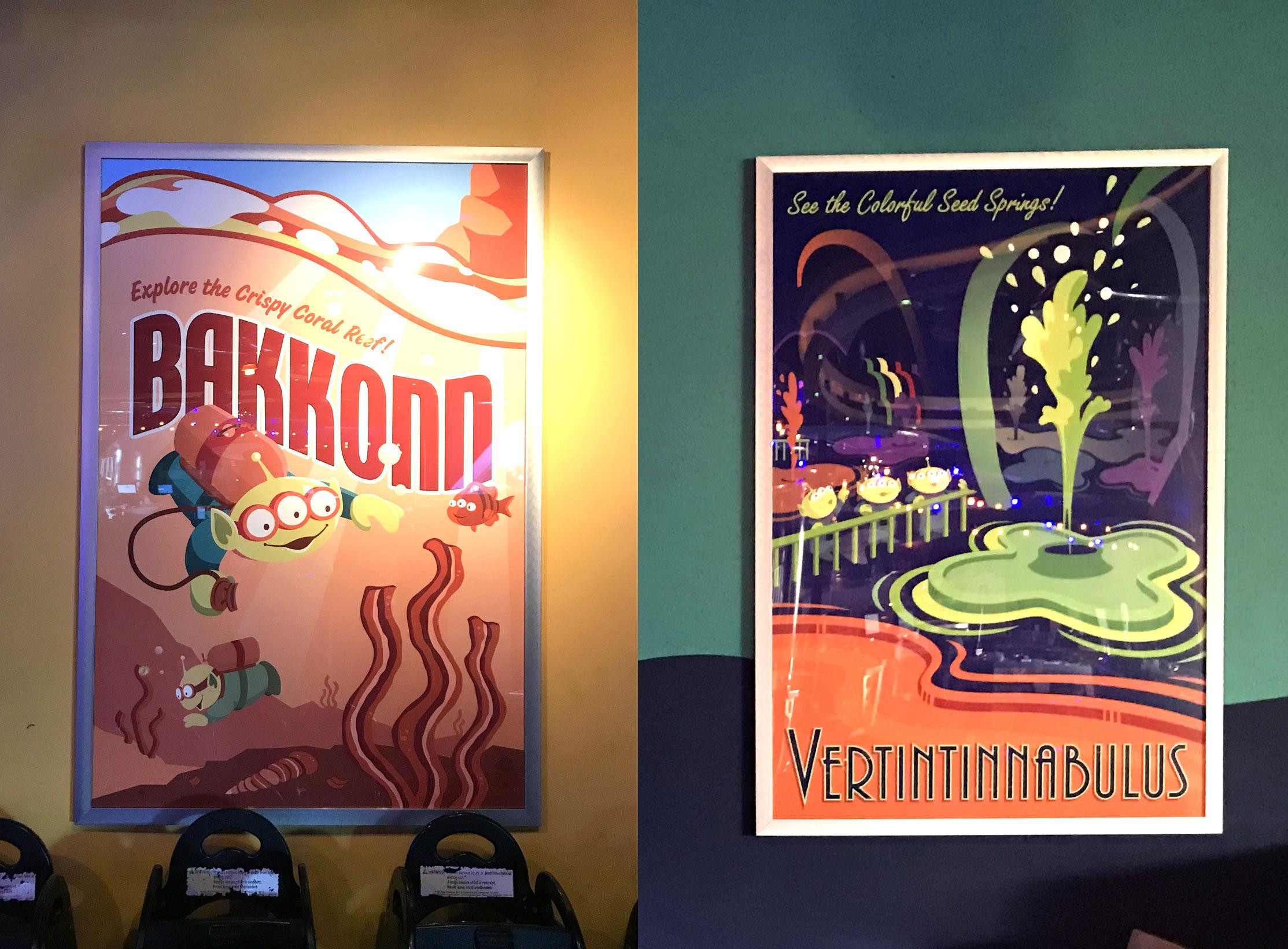 Pizza Planet Posters, Overlay for Pixar Fest, Disneyland, CA