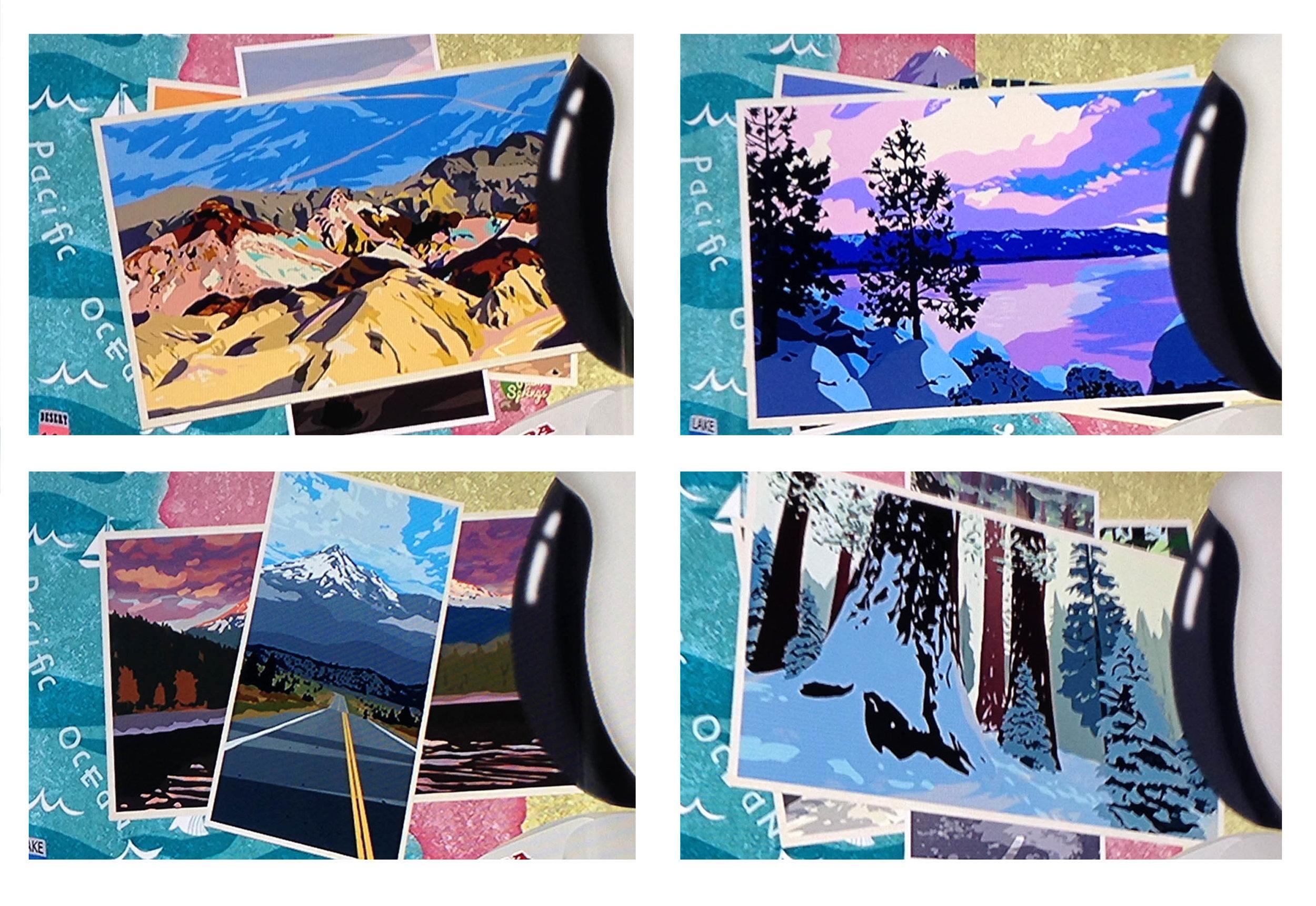 Autopia Postcards, Disneyland, CA