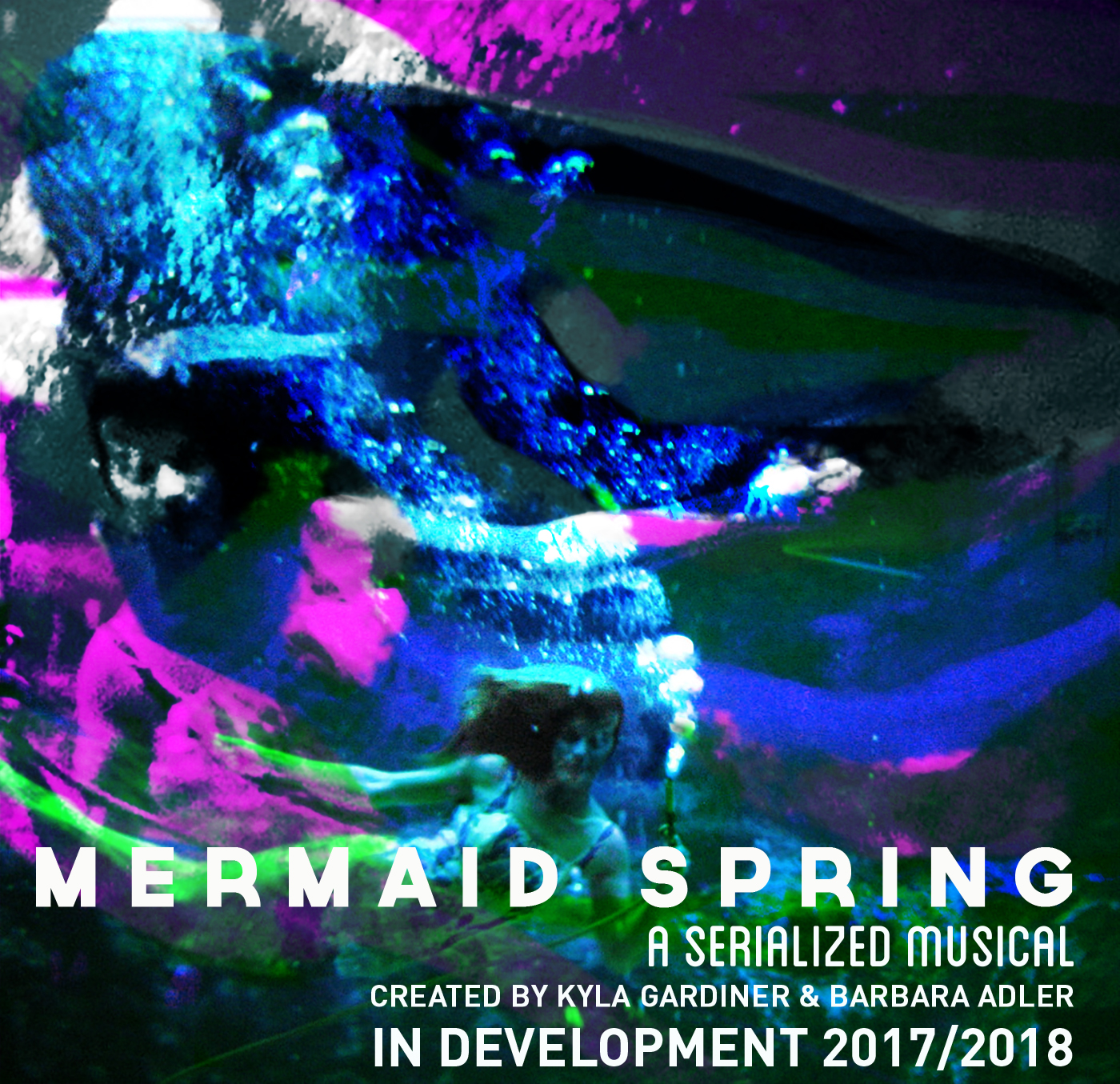 MERMAID SPRING - Announcing a new collaboration by Kyla Gardiner and Barbara AdlerMermaid Spring is a new serialized musical in development by designer/performance maker Kyla Gardiner and writer/composer Barbara Adler. The project is inspired by Florida's Weeki Wachee State Springs Park where since 1947, women have performed live mermaid shows in a freshwater spring to audiences gathered in a glass-fronted underwater theatre.Our starting point is the defiantly kitschy history of this place, but mermaids matter now. Look up