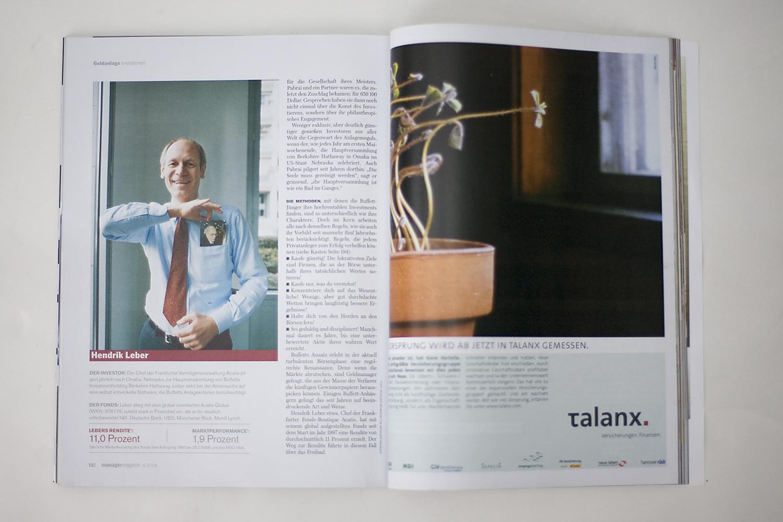 Fotordaktion . Manager Magazin